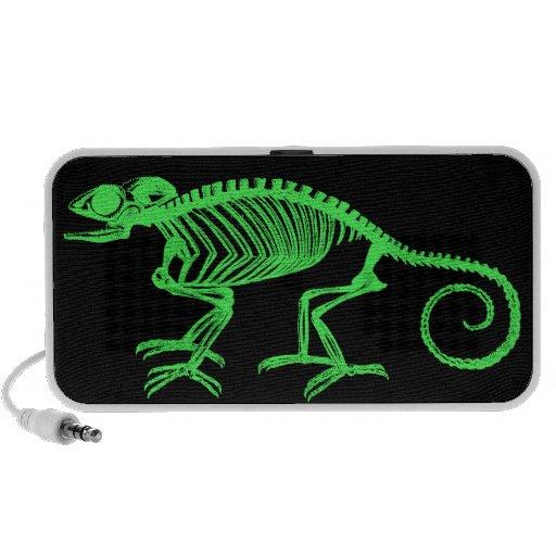 Esqueleto del camaleón laptop altavoces