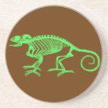 Esqueleto del camaleón posavasos personalizados