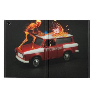 Esqueleto del coche de bomberos funda para iPad air