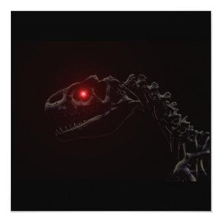 Esqueleto del dinosaurio del zombi de los Undead Invitación 13,3 Cm X 13,3cm