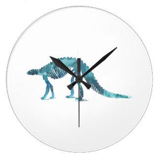 Esqueleto del dinosaurio (Scelidosaurus) Reloj Redondo Grande