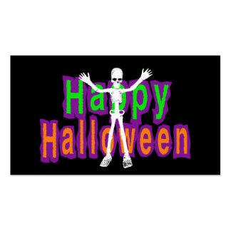 Esqueleto del feliz Halloween Plantilla De Tarjeta Personal