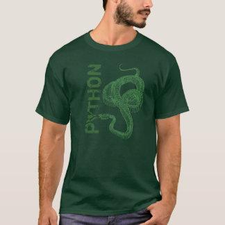 Esqueleto del pitón, serpiente en espiral lista camiseta