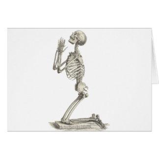 Esqueleto del vintage felicitación