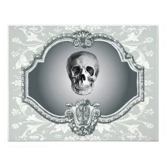Esqueleto en el espejo Halloween Invitación 10,8 X 13,9 Cm