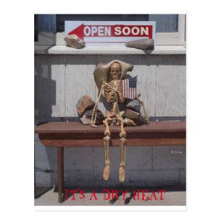 Esqueleto - es un calor seco postal