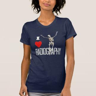 Esqueleto feliz de la radiografía de la diversión camiseta