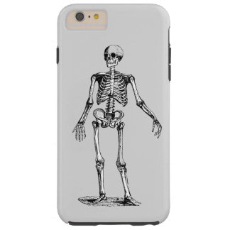 Esqueleto, Halloween blanco y negro Funda Resistente iPhone 6 Plus