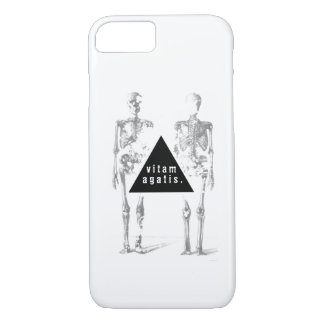 Esqueleto humano Greyscale - 'vive su life Funda iPhone 7