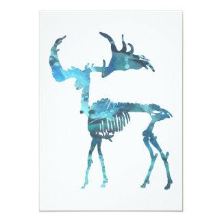 Esqueleto irlandés de los alces invitación 12,7 x 17,8 cm