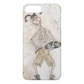 Esqueleto que anda en monopatín funda iPhone 7 plus