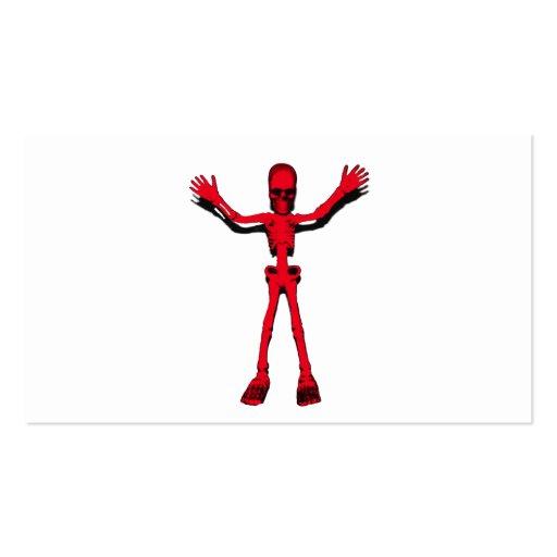 Esqueleto rojo de Halloween Plantilla De Tarjeta Personal