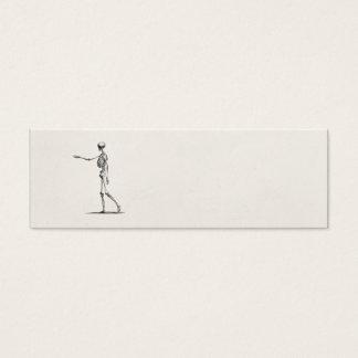 Esqueletos antiguos esqueléticos de la anatomía de tarjeta de visita pequeña