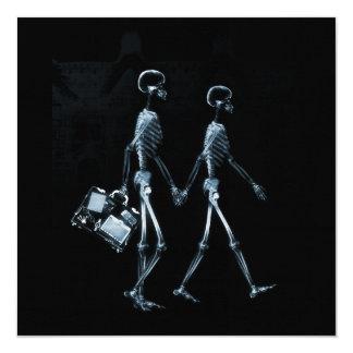 Esqueletos de Vision de la radiografía de los Invitación 13,3 Cm X 13,3cm