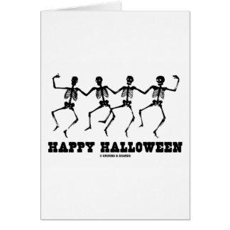 Esqueletos del baile del feliz Halloween Tarjeta