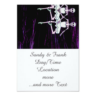 Esqueletos del baile invitación 12,7 x 17,8 cm
