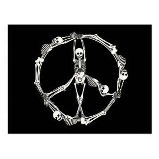 Esqueletos del signo de la paz postal