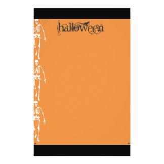 Esqueletos y aviador de Halloween de las arañas Folleto 14 X 21,6 Cm