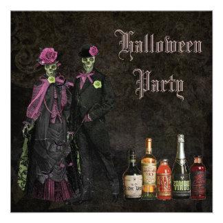 Esqueletos y fiesta elegantes de Halloween del Anuncio