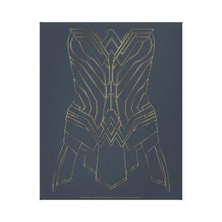 Esquema de la armadura del oro y de la marina de lienzo