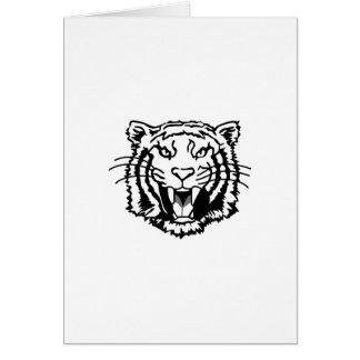 Esquema de los tigres tarjeta de felicitación