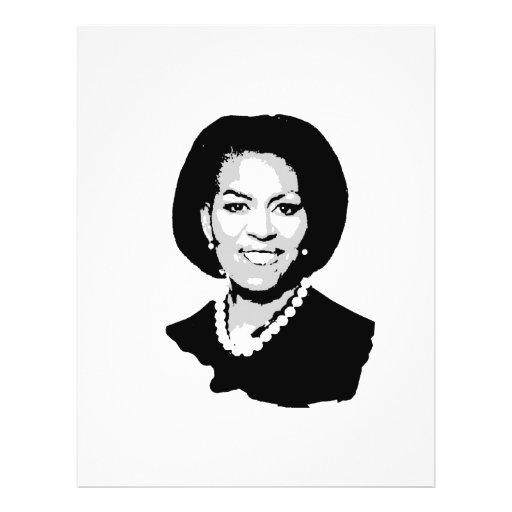 Esquema de Michelle Obama Flyer Personalizado