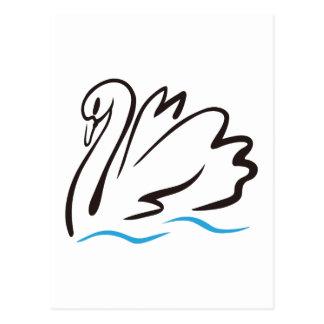 Esquema del cisne postal