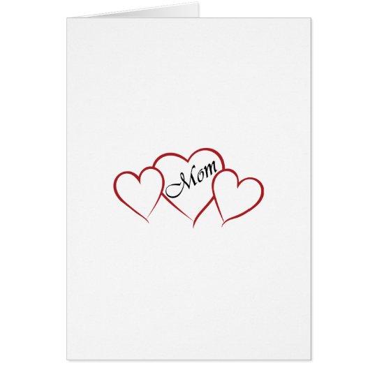 Esquema del corazón de la mamá tarjeta de felicitación