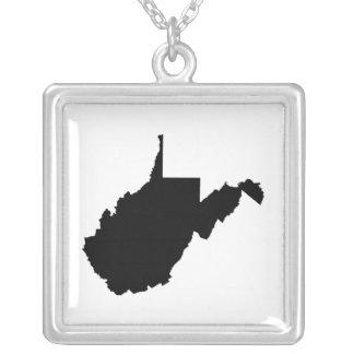 Esquema del estado de Virginia Occidental Colgante Cuadrado