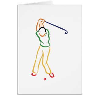 Esquema del golfista tarjeta de felicitación