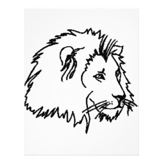 Esquema del león folleto 21,6 x 28 cm