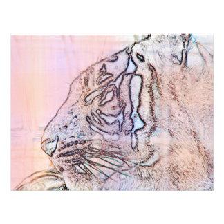 esquema del tigre con diversas líneas ligeras de l