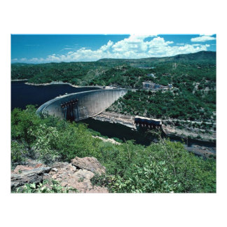 Esquema hidroeléctrico de Kariba, del lado de Zimb Folleto 21,6 X 28 Cm