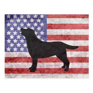 Esquema patriótico 4to de Labrador de la postal de