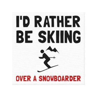 Esquí sobre Snowboarder Lienzo Envuelto Para Galerias