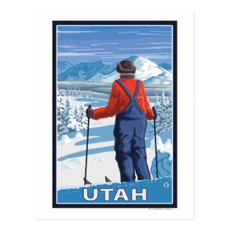 Esquiador AdmiringUtah Postal