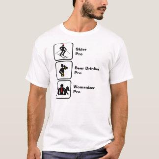 Esquiador, bebedor de cerveza, Womanizer Camiseta