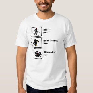 Esquiador, bebedor de cerveza, Womanizer Camisetas