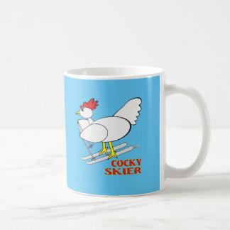 Esquiador chulo taza de café