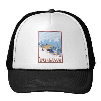 Esquiador de la nieve de Downhhill - panadero del  Gorros Bordados
