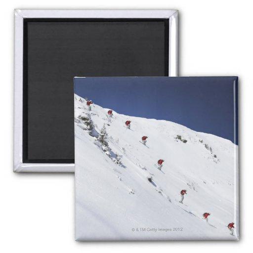 Esquiador de sexo masculino imán para frigorifico