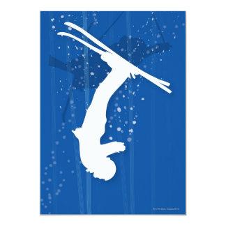 Esquiador del estilo libre invitación 12,7 x 17,8 cm