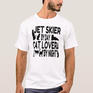 Esquiador del jet del amante del gato camiseta