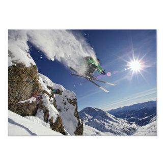 Esquiador en aire anuncio