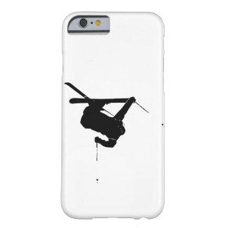 Esquiador negro y blanco funda barely there iPhone 6