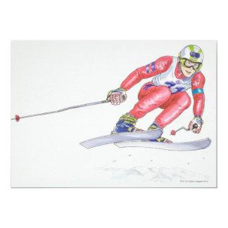 Esquiador que realiza el salto 2 invitación 12,7 x 17,8 cm