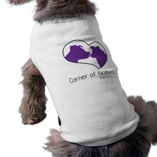 Esquina de la camisa del perro de la amabilidad camiseta sin mangas para perro