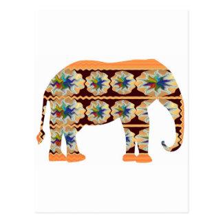 Esquina de los niños - elefante pintado postal