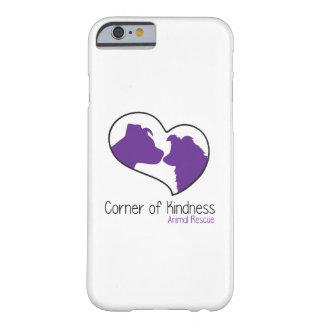 Esquina del caso del iPhone 6/6s de la amabilidad Funda Barely There iPhone 6