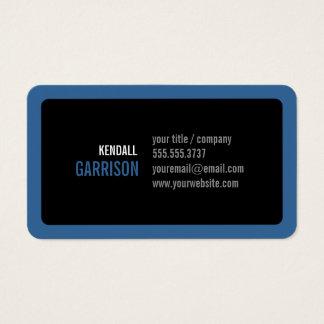 Esquinas redondas de encargo azules y moderno tarjeta de visita